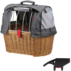 KlickFix Doggy Basket Plus  Bike Basket Basket clip grey/brown